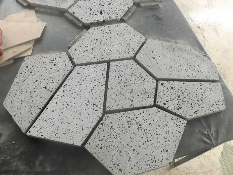 ireegular paver for lava stone