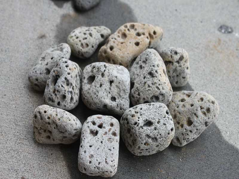 tumbled lava rock